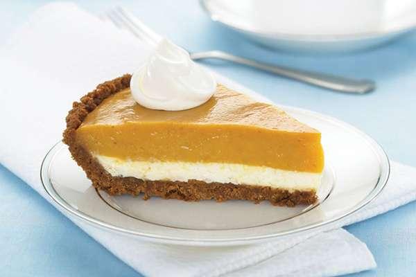 double layered pumpkin pie