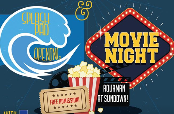 Joshua Splash Pad Opening & Movie Night in the Park @ Joshua Splash Pad