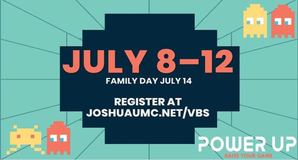 Power Up Vacation Bible School @ First United Methodist Church Joshua