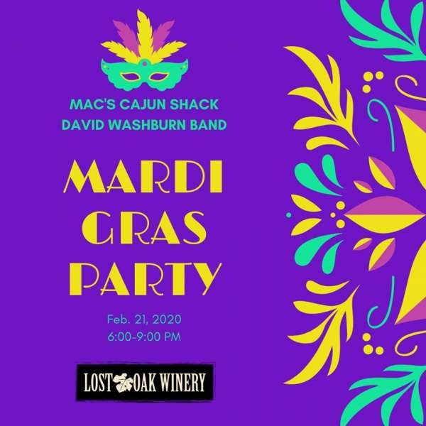 Mardi Gras at the Winery @ Lost Oak Winery