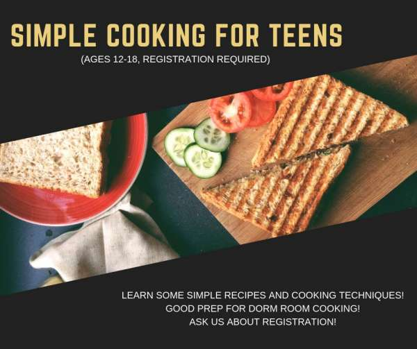 Simple Cooking for Teens @ Burleson Public Library