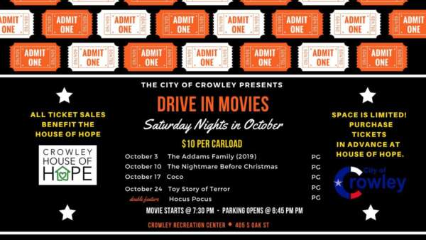 Drive In Movies @ Crowley Recreation Center