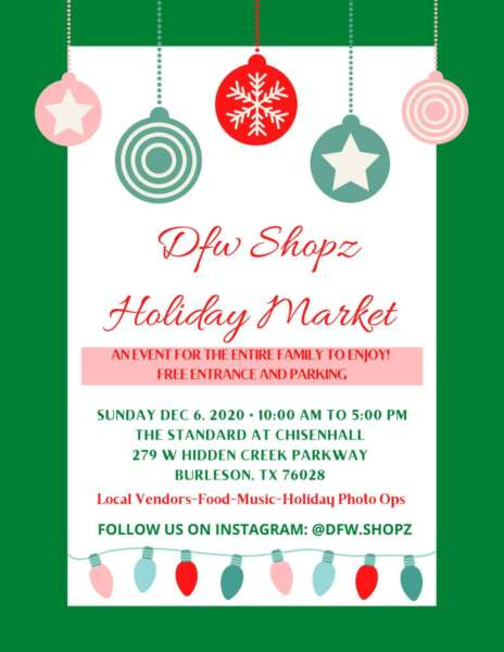 Dfwshopz Holiday Market @ The Standard at Chisenhall