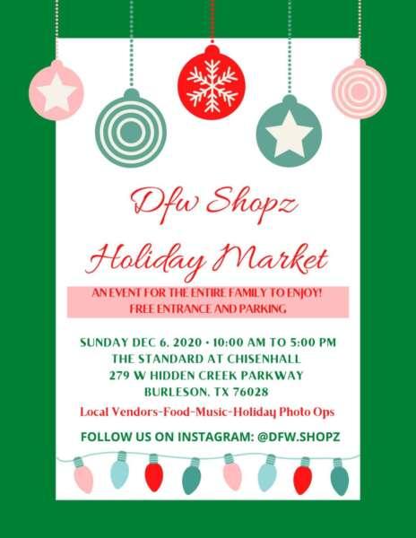 Dfwshopz Holiday Market @ The Standard at Chisenhall